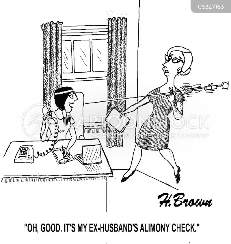 spousal maintenance cartoon