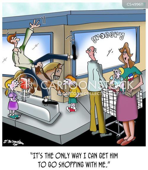 grocery market cartoon