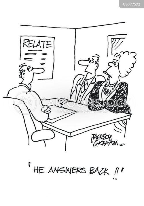 answering back cartoon
