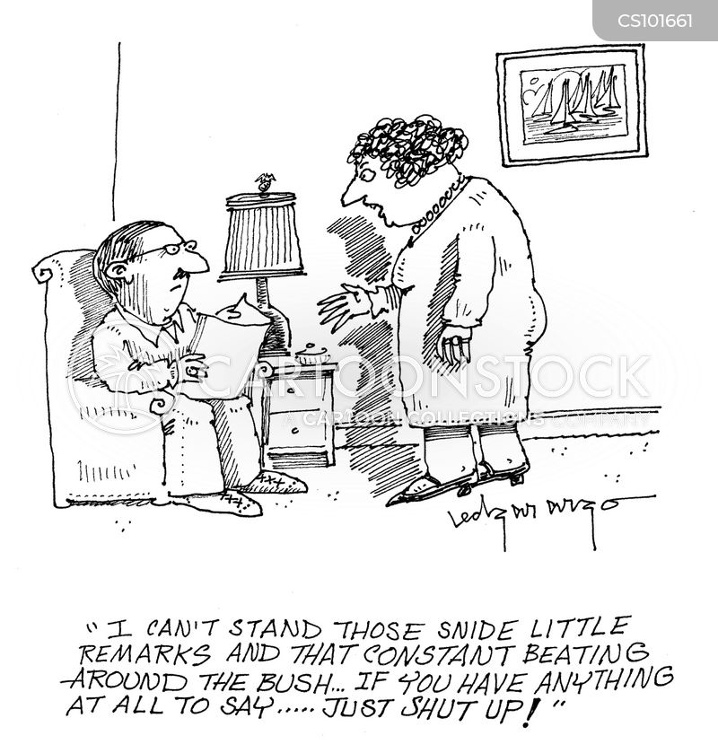 snide comments cartoon