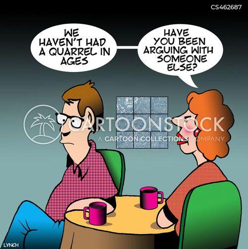 domestic spat cartoon