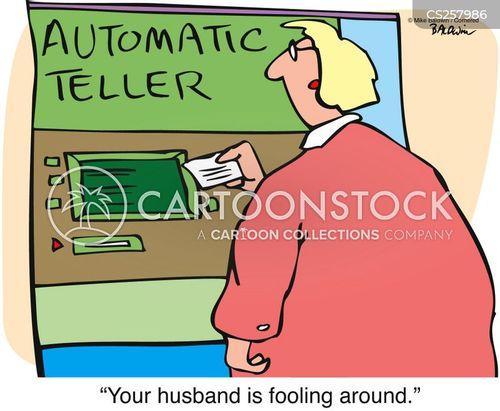 automated teller cartoon