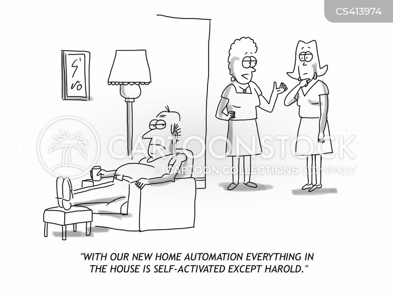 home automation cartoon