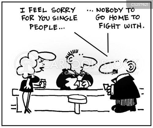 domestic problem cartoon