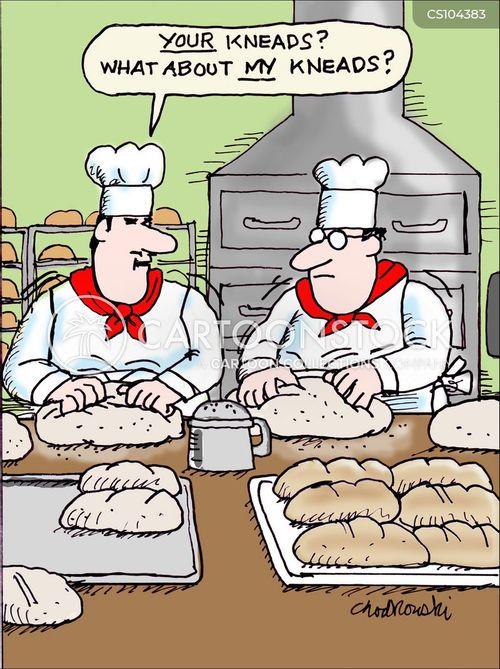 bread making cartoon