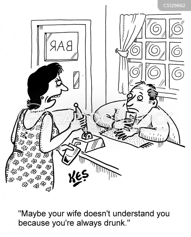 troubled marriage cartoon
