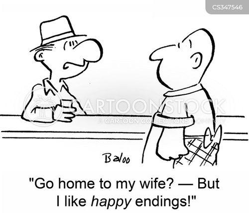 bar men cartoon