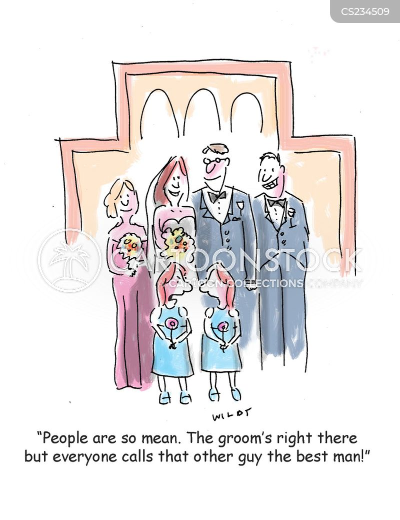 wedding photo cartoon