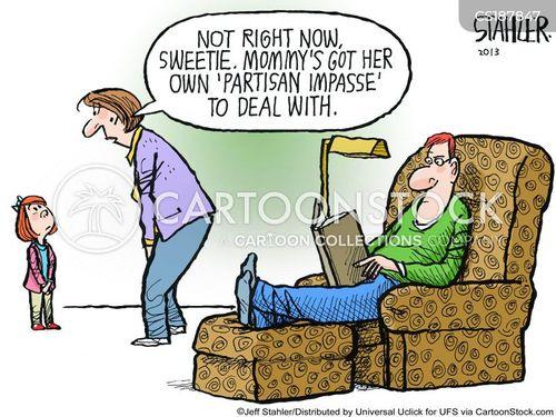 bipartisan politics cartoon