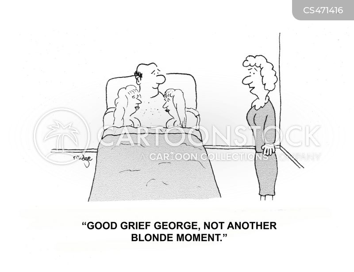 blonde stereotype cartoon