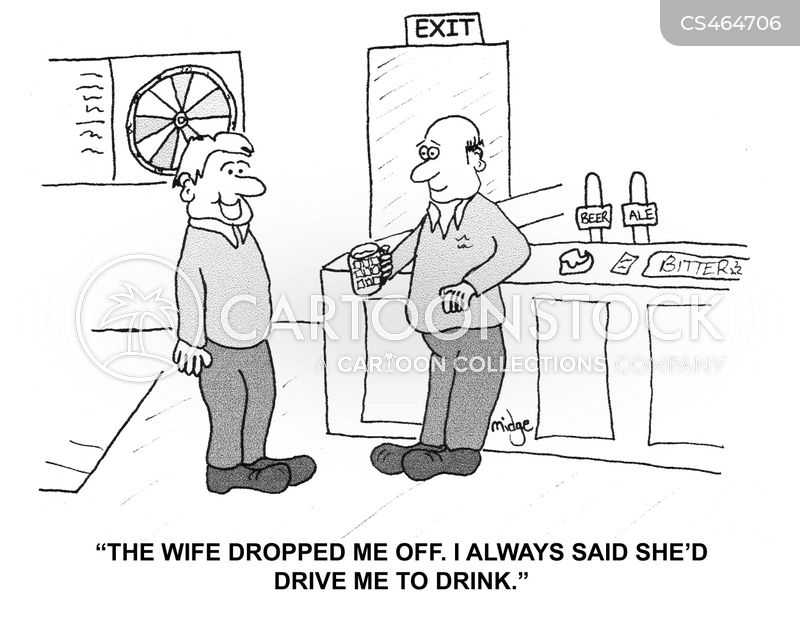 driven to drink cartoon
