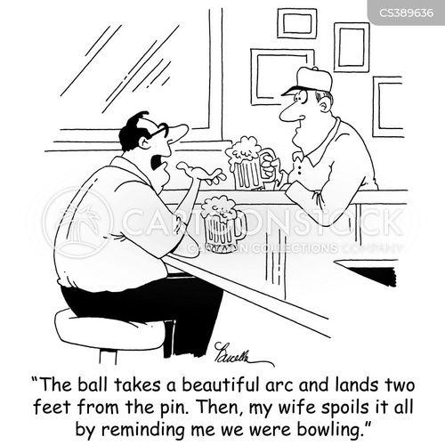 10 pin bowling cartoon