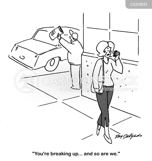 breaks up cartoon