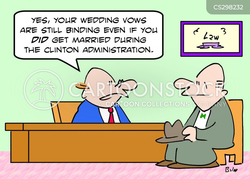 clinton administration cartoon