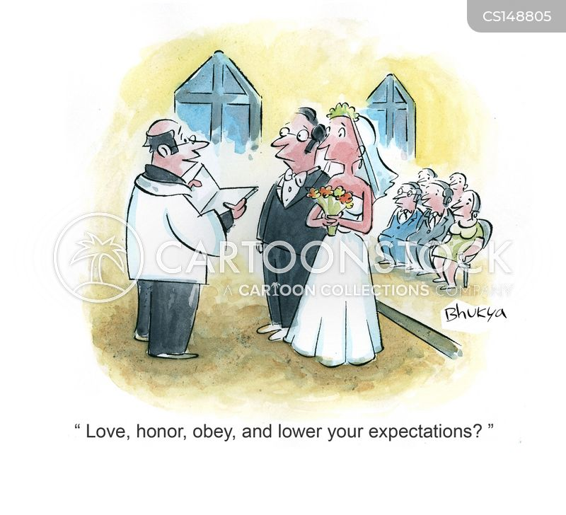 newly wed cartoon