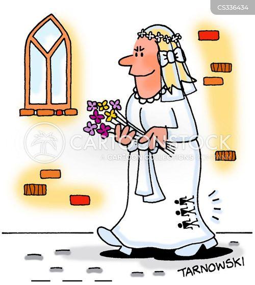 blushing bride cartoon