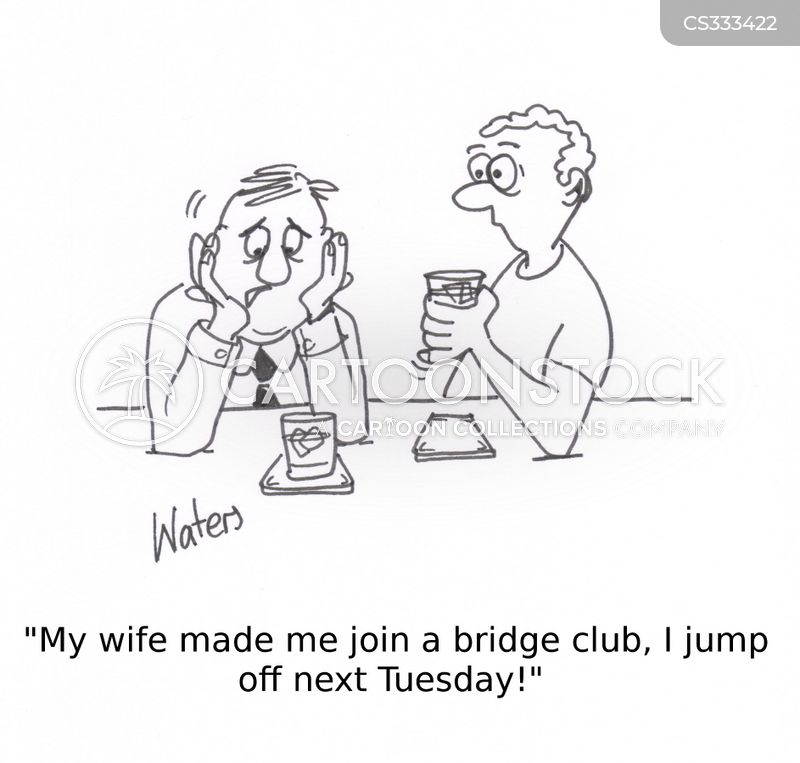 jump off a bridge cartoon