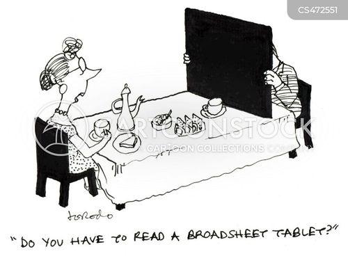 breakfast tables cartoon
