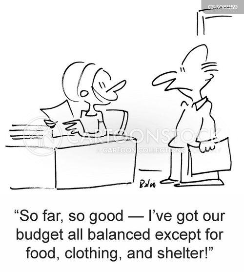 household bills cartoon
