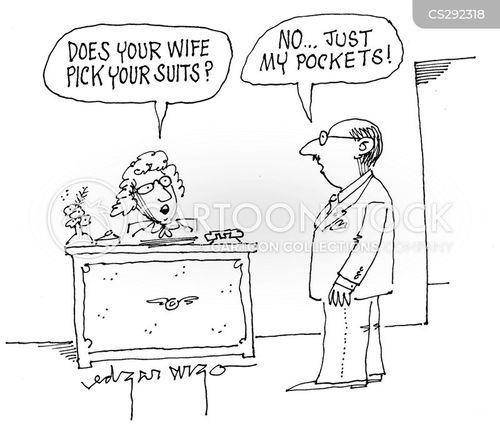 picks suits cartoon