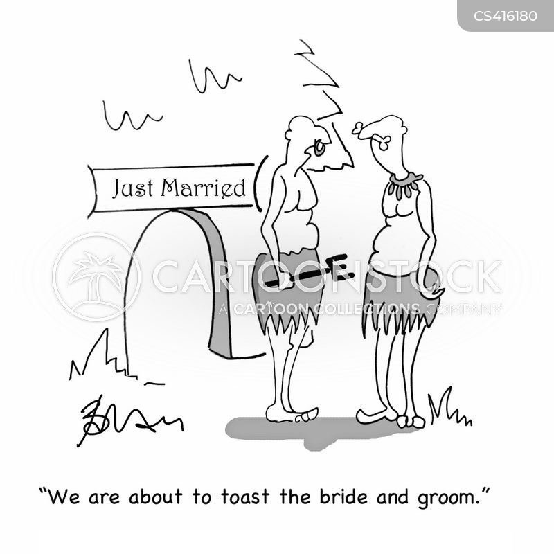 wedding toasts cartoon