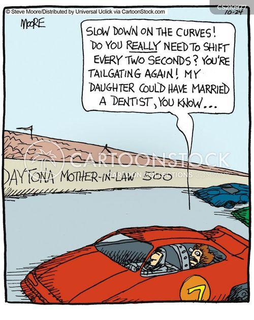 racecar cartoon