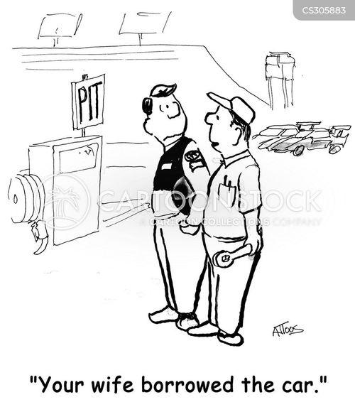 auto racing cartoon