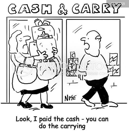 inconsiderate husband cartoon