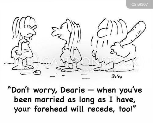 recede cartoon