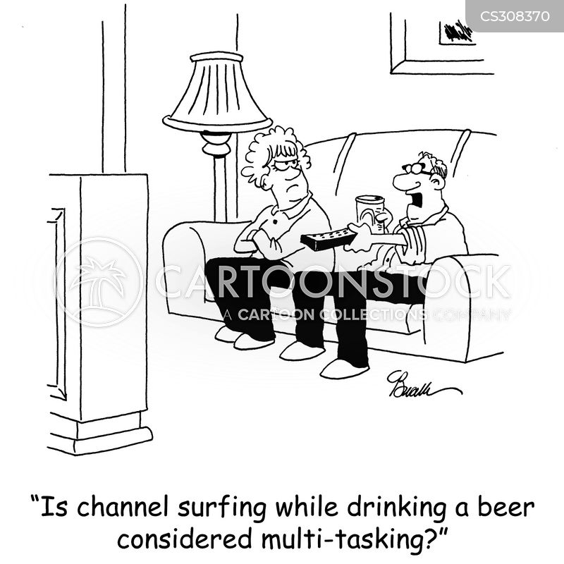 channel surfing cartoon