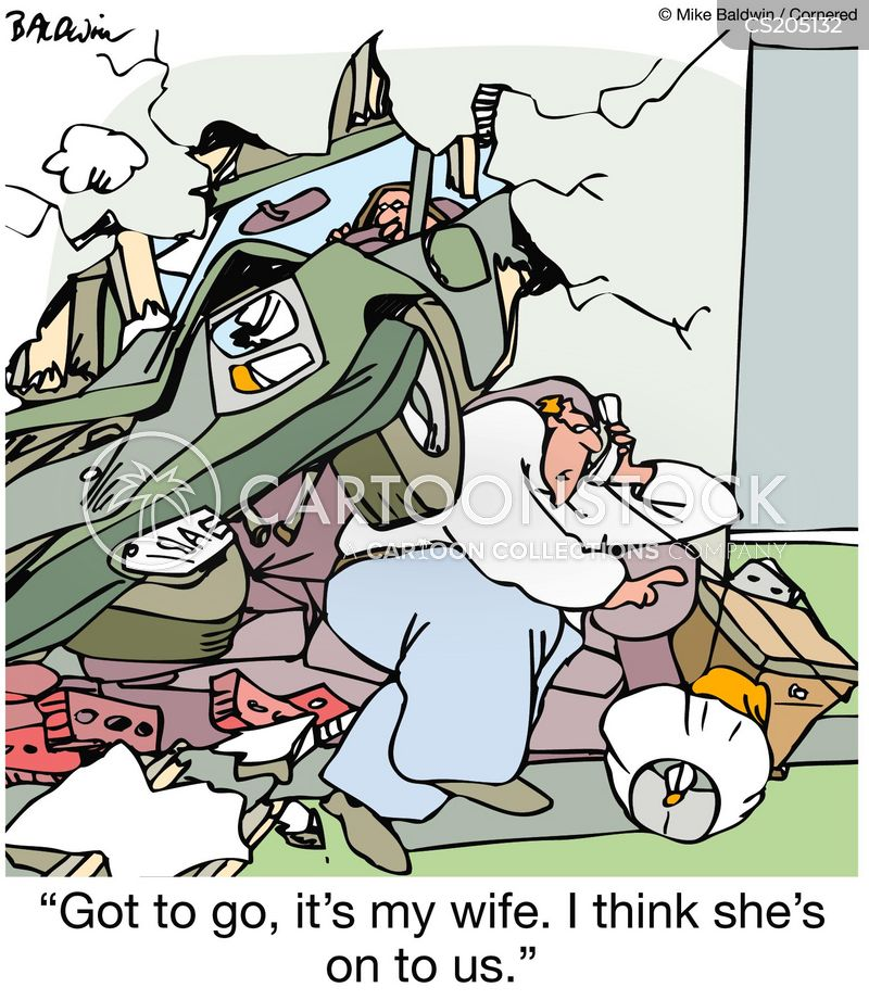 cheating husband cartoon