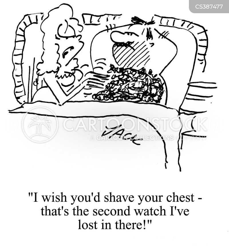 hairy chest cartoon