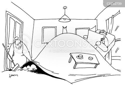 sweeping cartoon