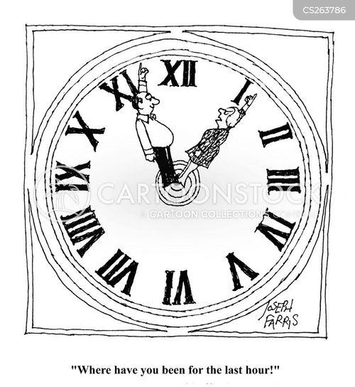 minute hand cartoon