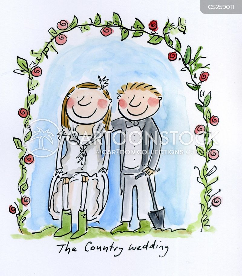 Country Wedding Cartoons And Comics Funny Pictures From Cartoonstock