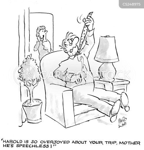 speechless cartoon