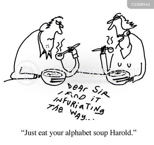 eating soup cartoon