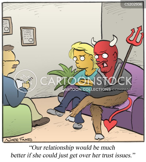 trust issue cartoon