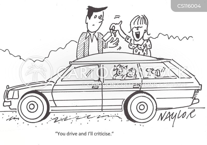 back-seat driver cartoon