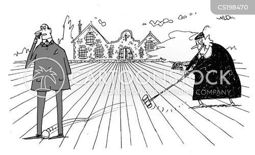 croquet players cartoon