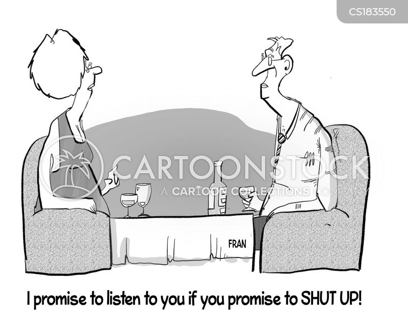 shut up cartoon