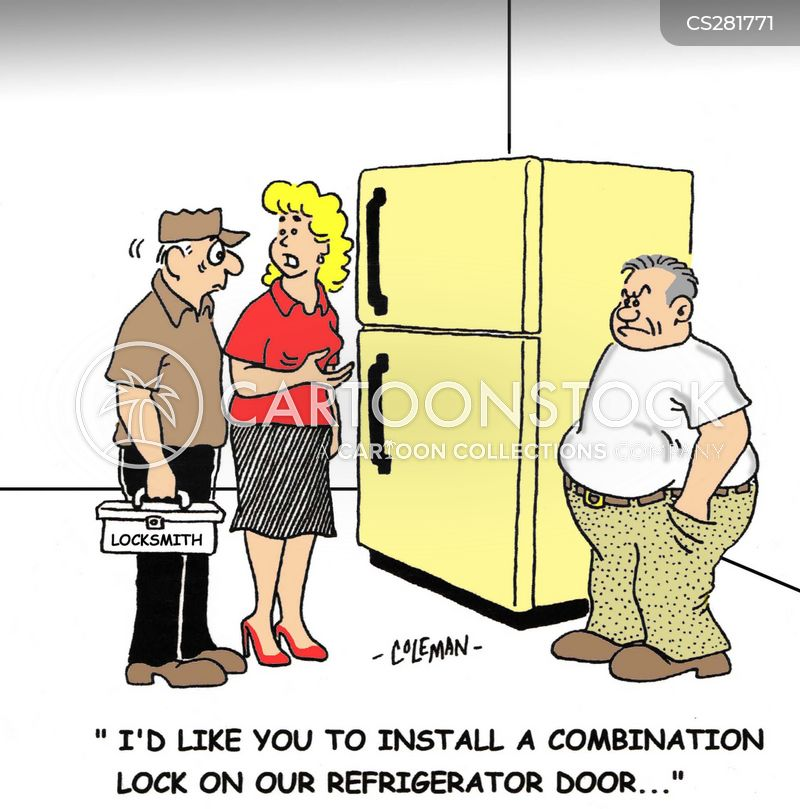 combination locks cartoon
