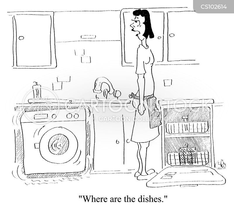 doing the dishes cartoon