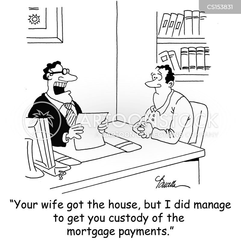 mortgage payments cartoon