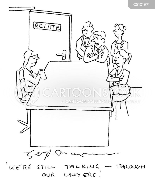 divorce proceeding cartoon