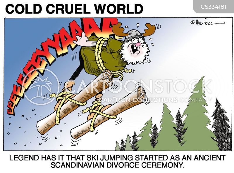 ski jumps cartoon