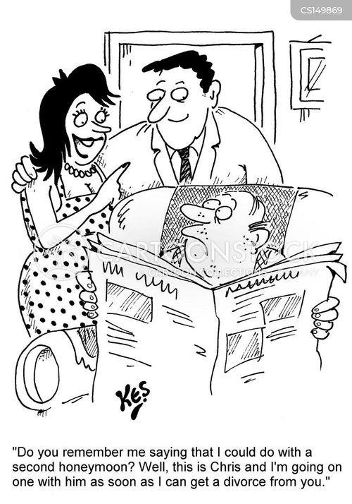 second husbands cartoon
