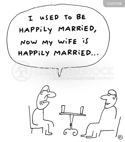 happy marriages cartoon