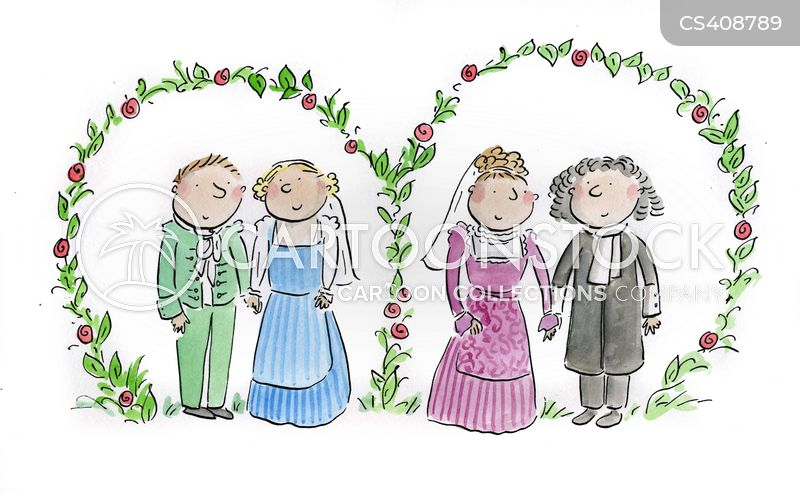 Double Weddings Cartoons And Comics Funny Pictures From Cartoonstock