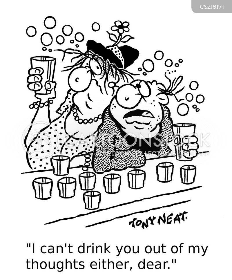 drinking to forget cartoon